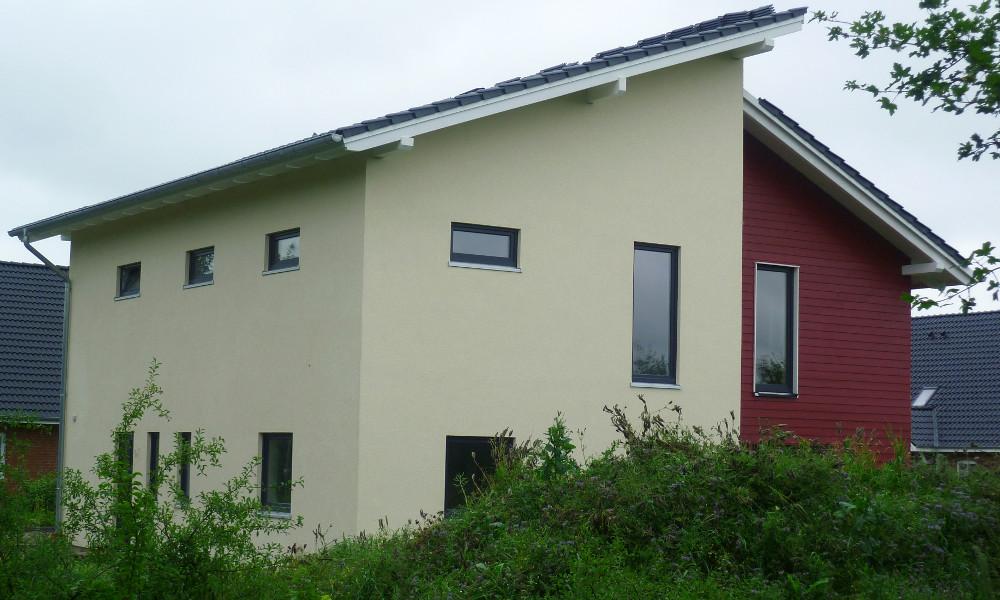 Fjorborg-Holzhaus zweigeschossig - verklinkert - Eigener Entwurf - BV 3032
