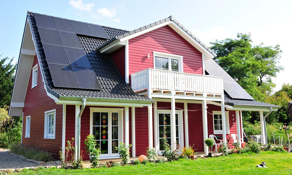 Fjorborg Häuser - 1,5 geschossiges Holzhaus - Haustyp Svendborg - BV7107