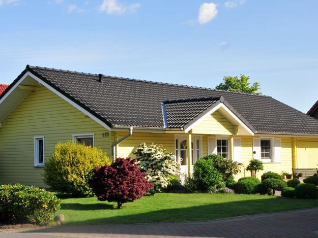 Fjorborg Haeuser - ebenerdiges Holzhaus - Haustyp Skagen - Eingang - BV 5007
