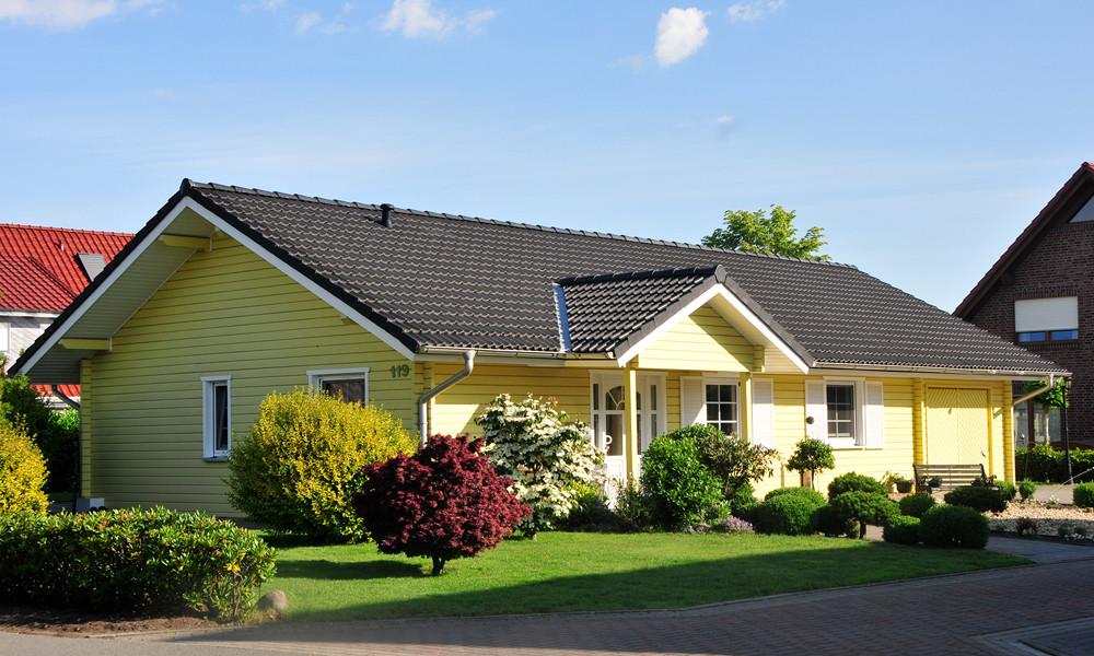 Fjorborg-Holzhaus – ebenerdiges Holzhaus – Haustyp Skagen – Eingang – BV 5007