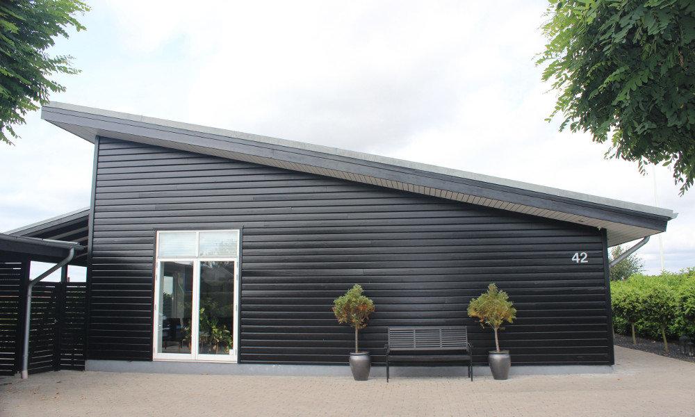 Fjorborg-Holzhaus mit Pultdach - Eigener Entwurf - BV 3985