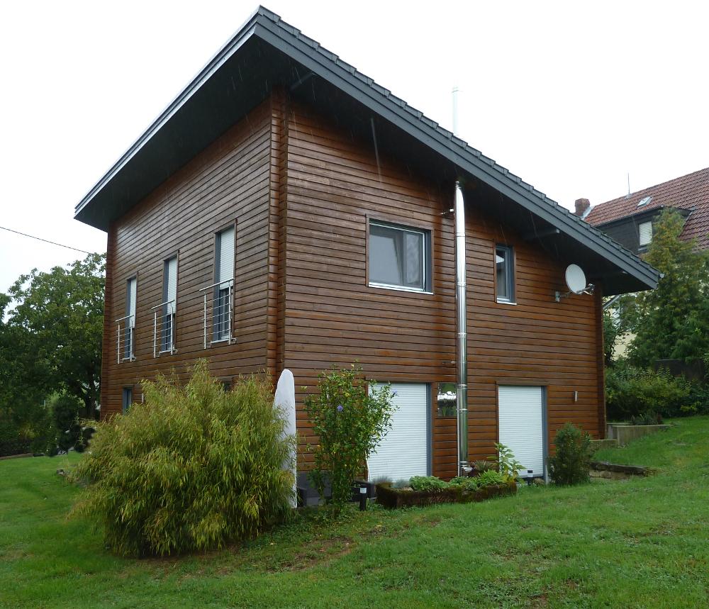 Fjorborg-Holzhaus mit Pultdach - Eigener Entwurf - BV 4055