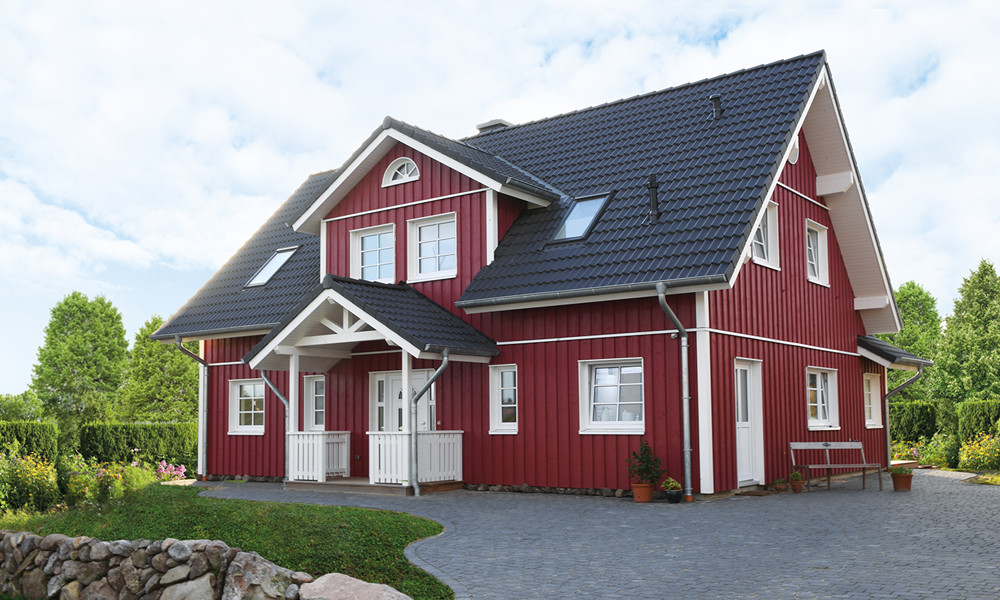 Fjorborg Holzhaeuser - Haeuservielfalt - zweigeschossige Haeuser