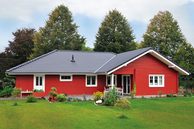 Fjorborg Holzhaeuser -Haustyp Malmoe mit Carport - BV6785
