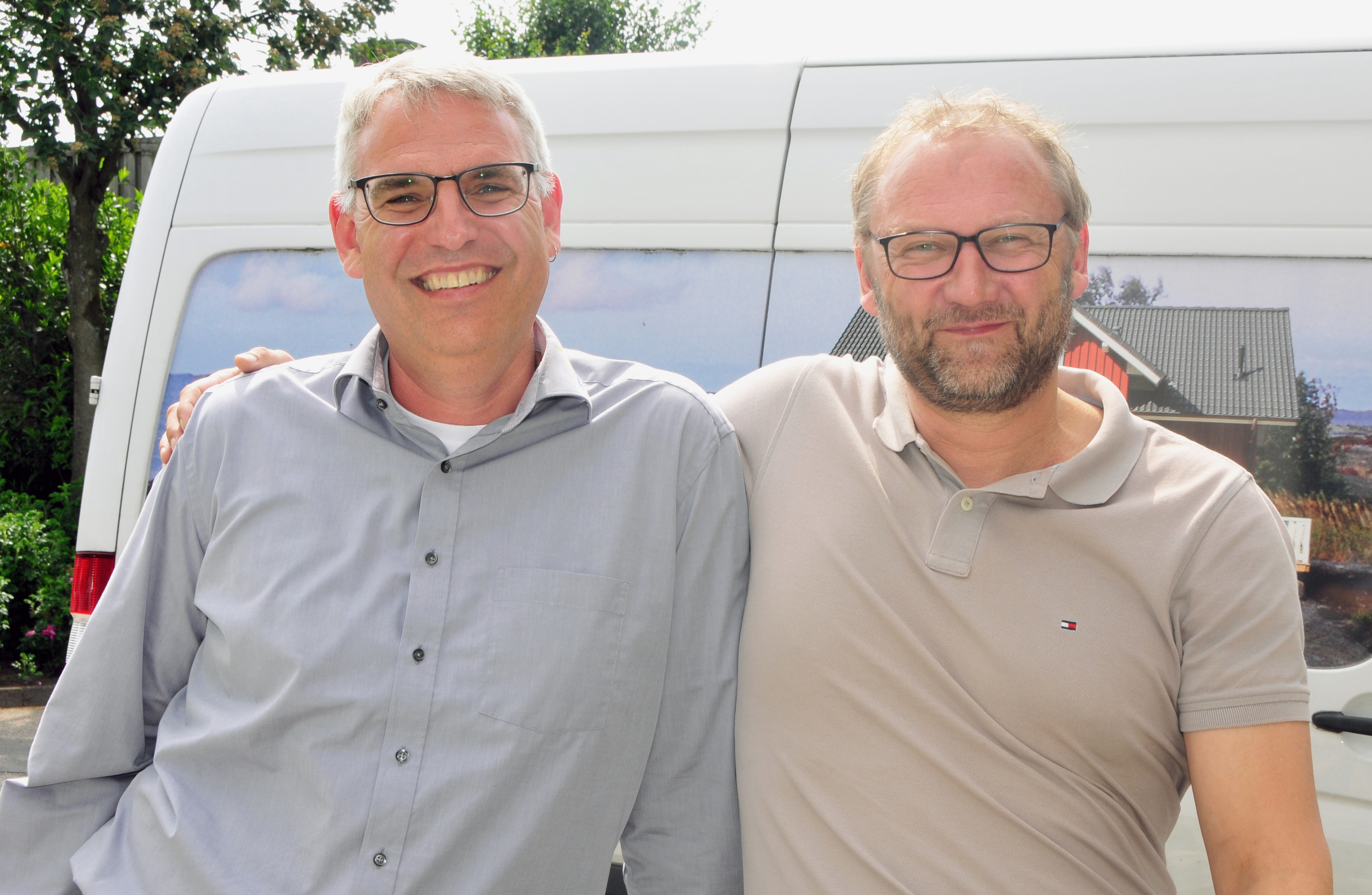 Fjorborg Holzhaeuser - Firmenjubilaen - Rainer Otten und Olfaf Jacobson