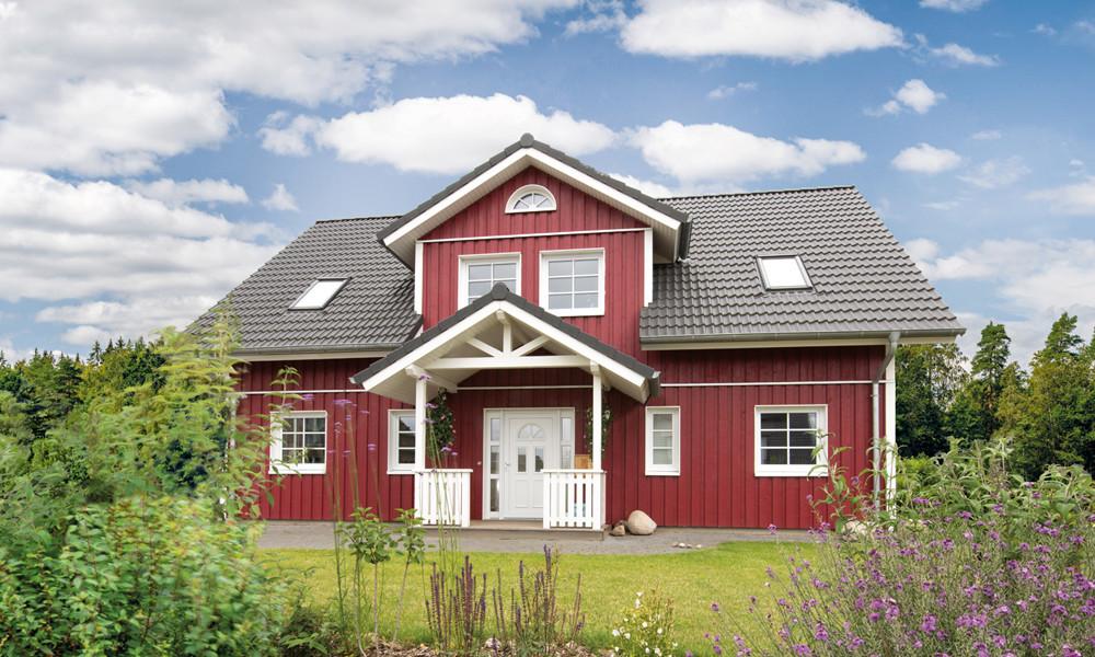 Fjorborg-Holzhaus – zweigeschossiges Haus – Haustyp Göteborg – BV 6796