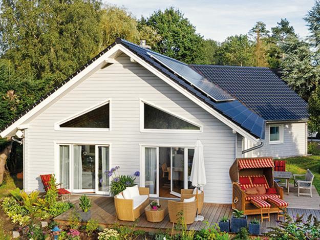 Fjorborg Haeuser - Wohntraum PLUSenergiehaus - Haustyp Silkeborg - ebenerdiges Holzhaus