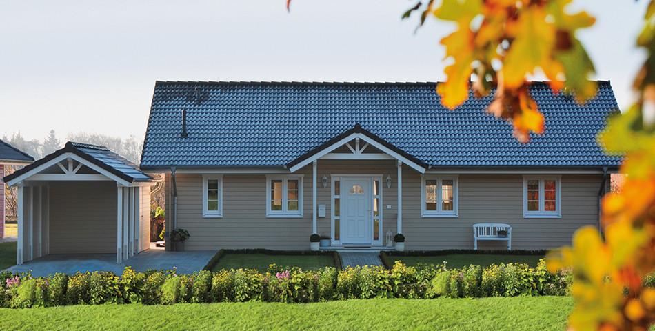 Fjorborg Holzhaeuser - Ebenerdiges Holzhaus - Haustyp Anholt - Eingangsbereich - BV6533