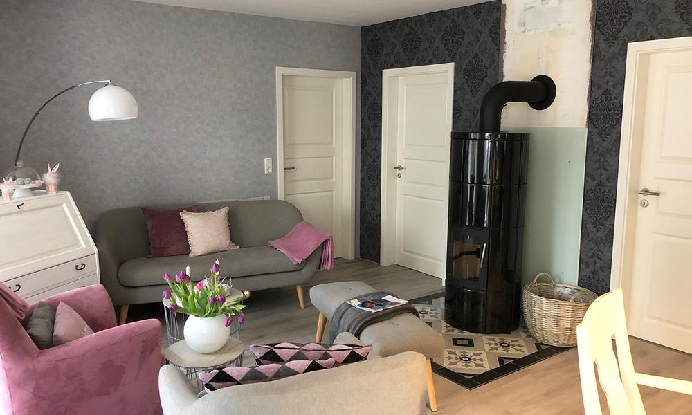 Fjorborg Häuser - ebenerdig Holzhaus - Eigener Entwurf - Wohnzimmer - BV7574
