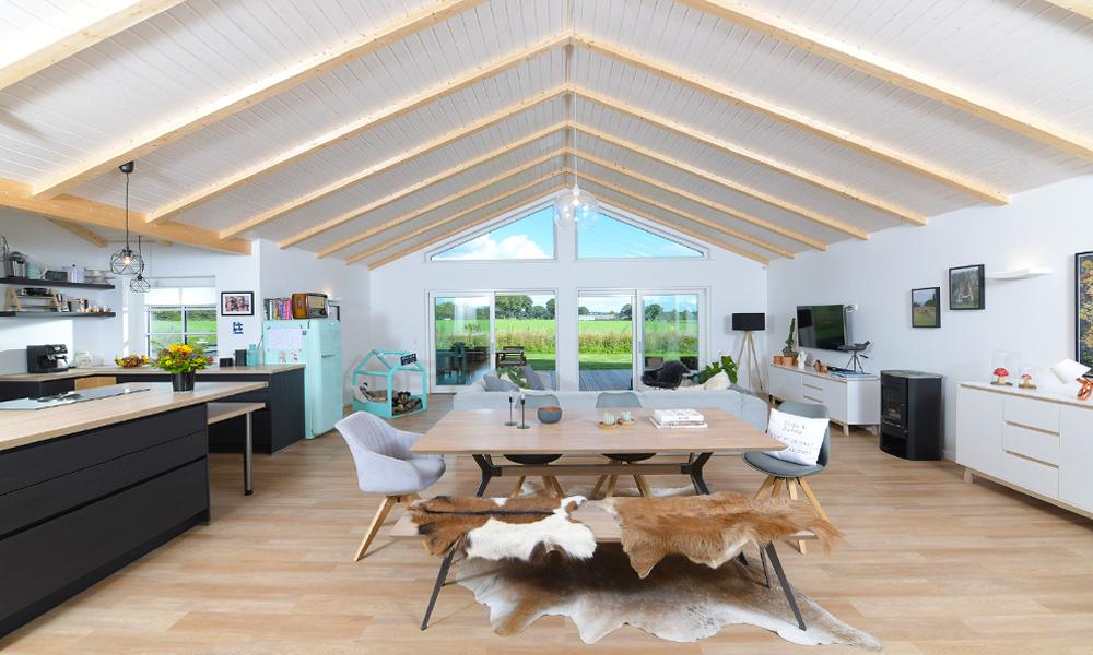 Fjorborg Häuser – ebenerdiges Holzhaus – großer Wohnbereich – BV6923