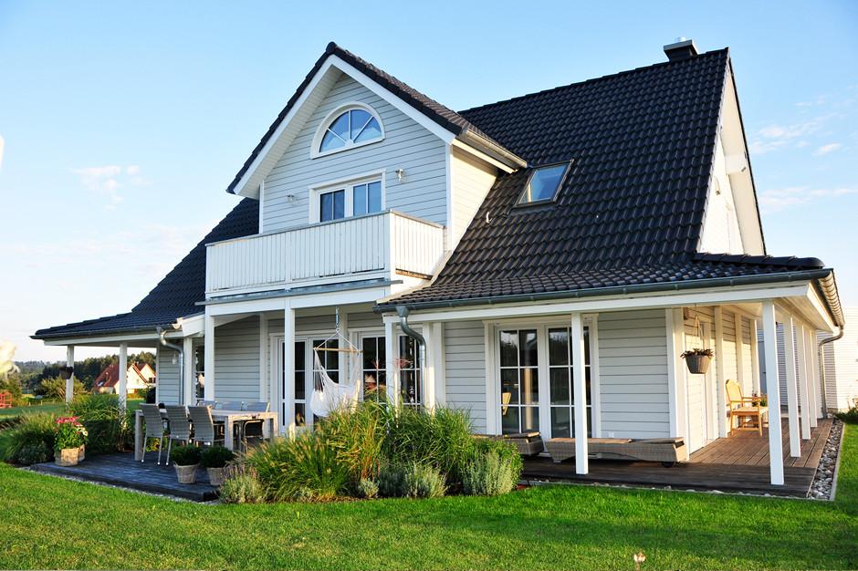 Fjorborg Haeuser - Schwedenhaus - Haustyp Helsingoer - Terrasse - Veranda - BV 6827