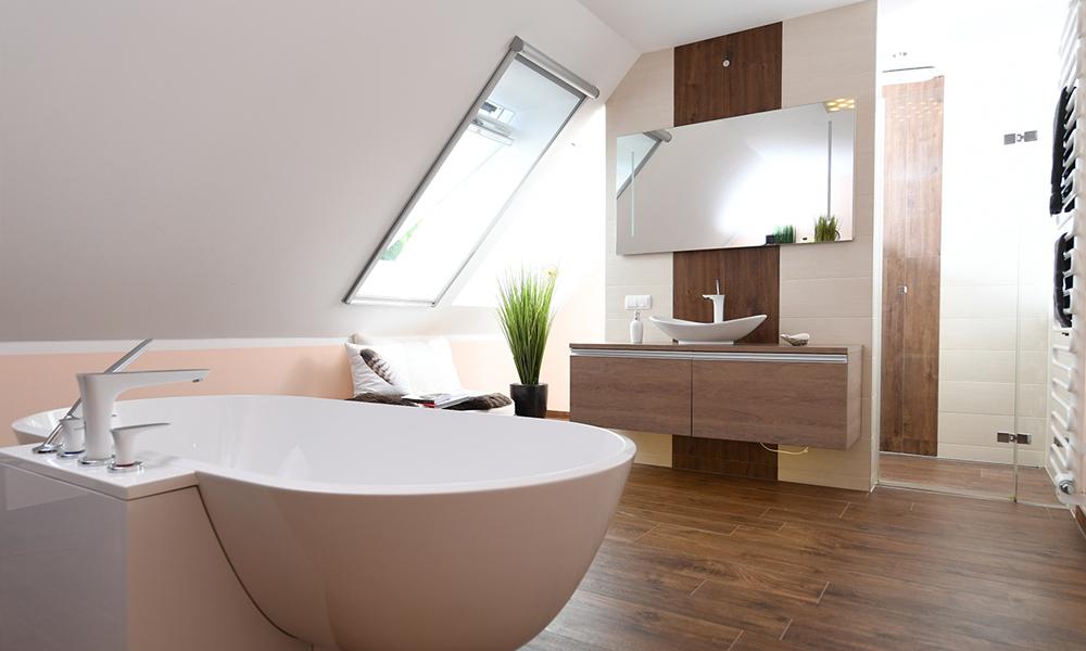 Fjorborg Häuser – zweigeschossiges Holzhaus – Badezimmer – BV5777