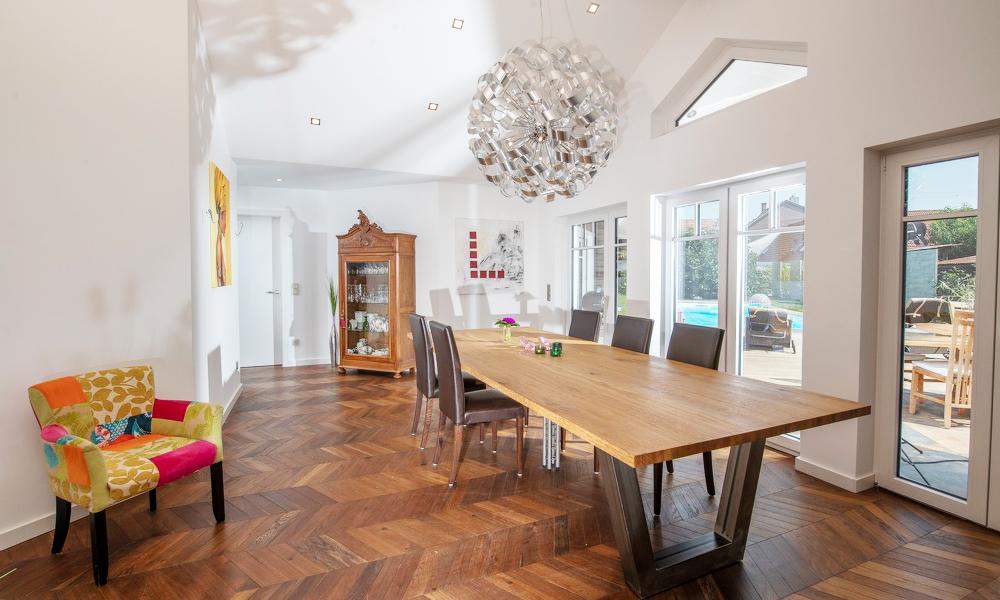 Fjorborg Häuser – ebenerdiges Holzhaus – Esszimmer – BV6830