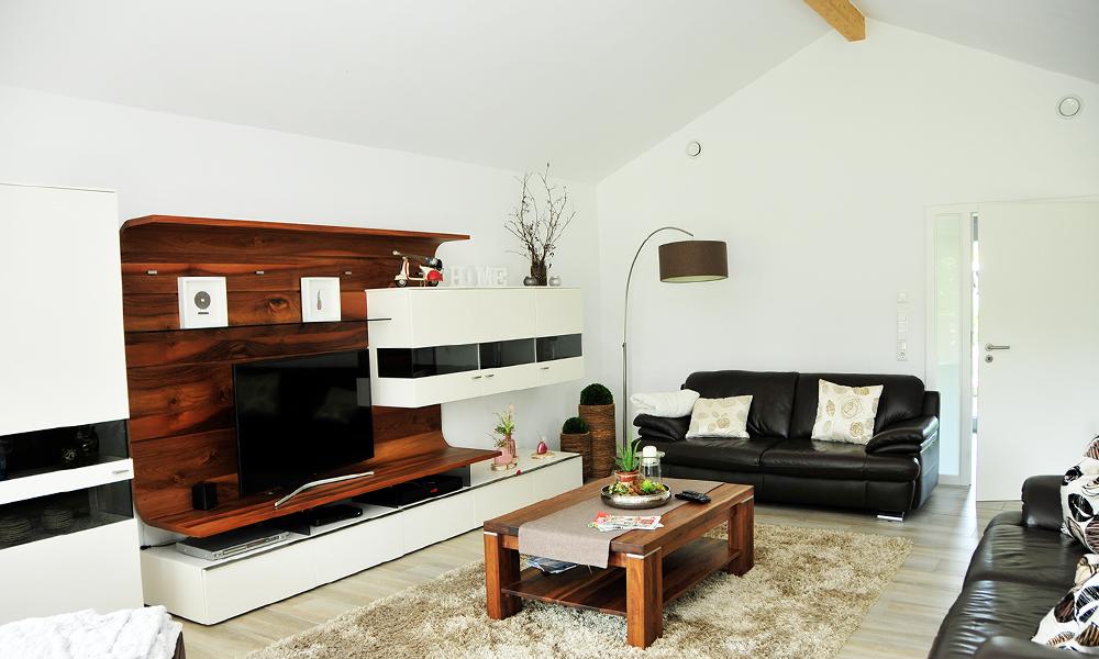 Fjorborg Häuser – zweigeschossiges Holzhaus – Wohnzimmer – BV6282