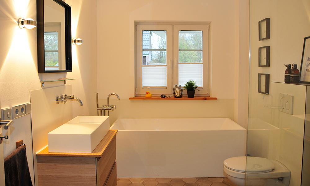 Fjorborg Häuser – ebenerdiges Holzhaus – Eigener Entwurf – Badezimmer – BV7004
