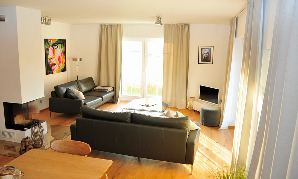 Fjorborg Häuser – ebenerdiges Holzhaus – Eigener Entwurf – offener Wohnbereich – BV7004