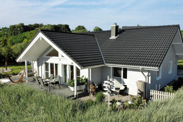 Fjorborg Holzhaeuser - Haustyp Anholt - ebenerdiges Holzhaus - BV6995