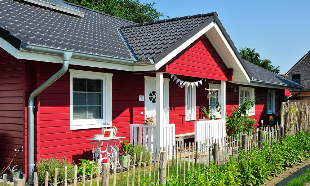 Fjorborg Holzhaeuser - Haustyp Visby Plus - ebenerdiges Haus - Eingang - BV7356