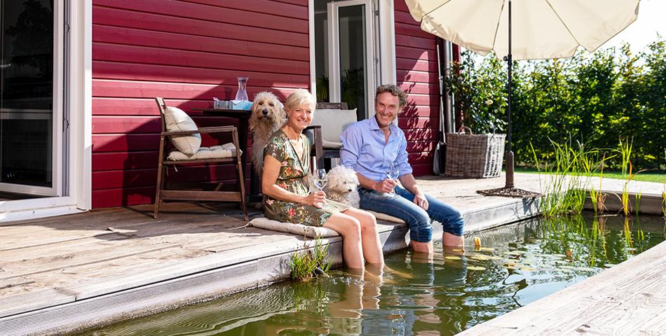 Fjorborg Haeuser - Wohntraum Wohnen und Arbeiten unter einem Dach - 1,5 geschossiges Holzhaus - Baufamilie Ina und Frank - BV6638