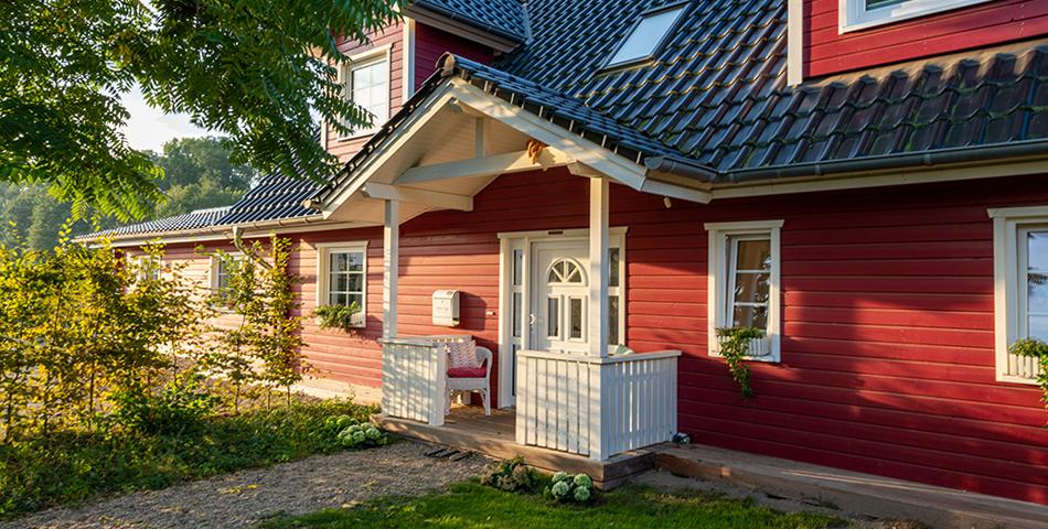 Fjorborg Haeuser - Wohntraum Wohnen und Arbeiten unter einem Dach - 1,5 geschossiges Holzhaus - ueberdachter Hauseingang - BV6638 - Galerie
