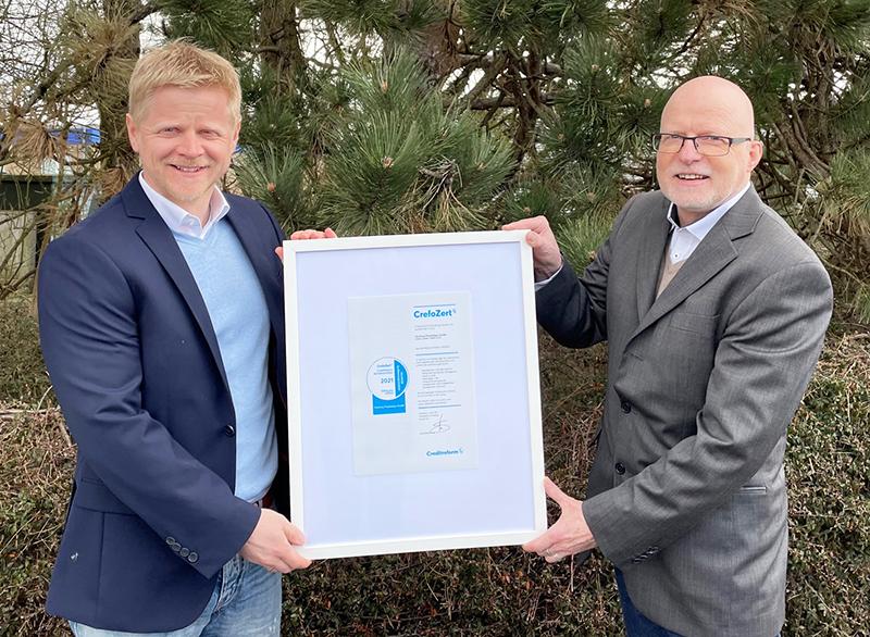Crefo Zertifikat 2021 - Fjorborg Haeuser - beste Bonitaet